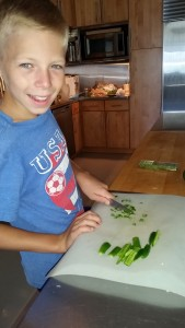 Chopping Serrano peppers for salsa (WASH HANDS AFTERWARDS!!)