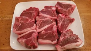 Lamb chops...ready to cook!