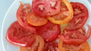 Tomatoes with EVO, salt & pepper...all you need