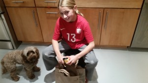 Peeling Apples (Koko supervising)