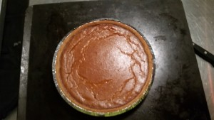 Pumpkin pie, just out of the oven