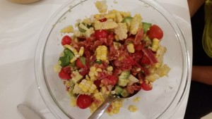 Corn, Tomato, Avocado Salad