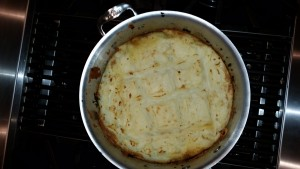 Shepherd's pie fresh out of the oven