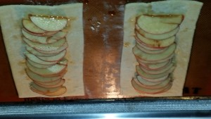 Puff pastry apple tarts...before the puff!
