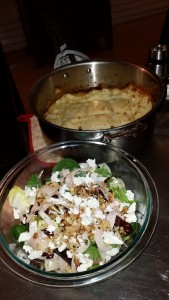 Endive salad and shepherd's pie.