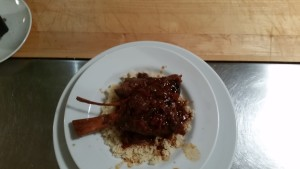 Lamb shank on couscous