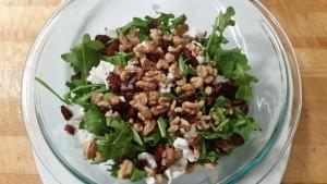 Arugula-goat cheese-cranberry --walnut salad
