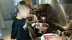 Cooking the meat