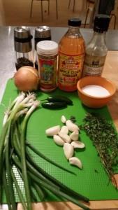 Ingredients for jerk marinade