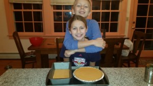 Pumpkin pie and mini pumpkin bread