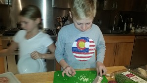 Max chopping garlic for chicken