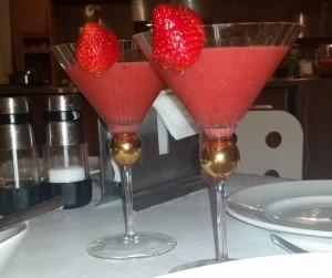 Strawberry Daiquiris -- no rum
