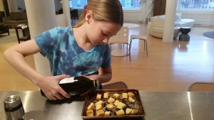 What to do with corn bread? Make corn bread croutons!