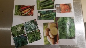 Some of the vegetable seeds/plants we ordered today.